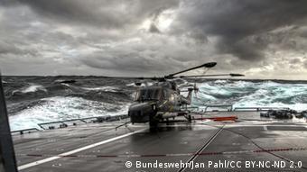 Die Fregatte Sachsen und Sea Lynx