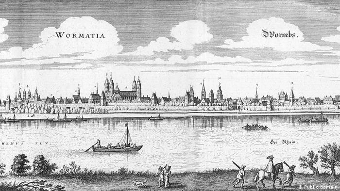 Вормс на гравюре Маттеуса Мерина 1655 года