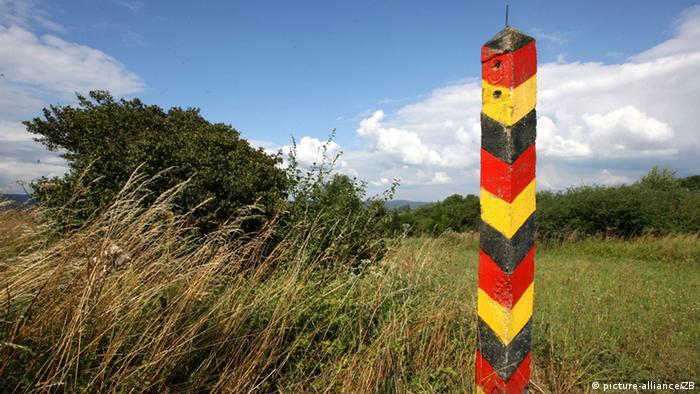 Бывший пограничный столб в районе тюрингского Нордхаузена