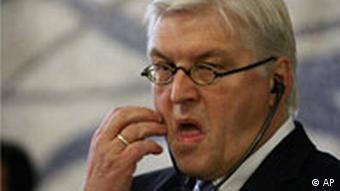 Der deutsche Bundesaußenminister Frank Walter Steinmeier in Italien
