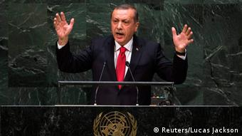 Erdogan at the UN (REUTERS/Lucas Jackson)