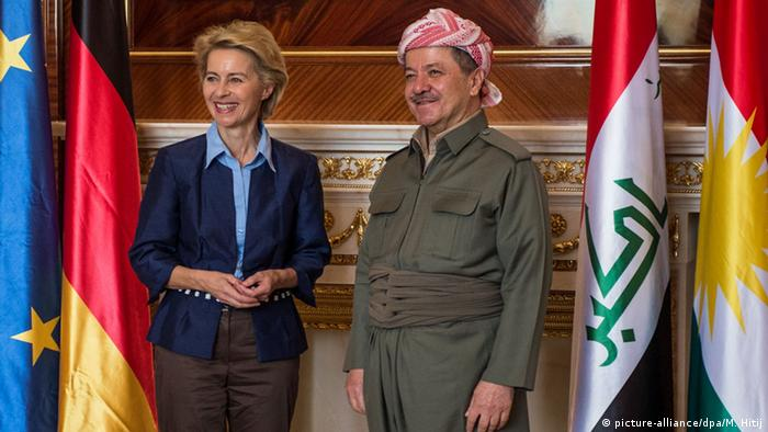 Irak Ursula von der Leyen und Masoud Barzani in Erbil 25.09.3014