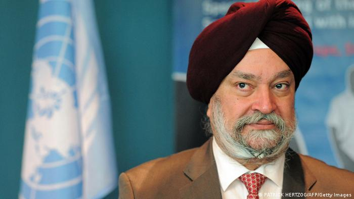 UNO Botschafter Hardeep Singh Puri (PATRICK HERTZOG/AFP/Getty Images)