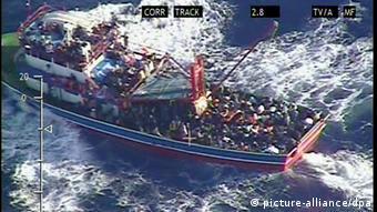 Ein Flüchtlingsboot vor Zypern