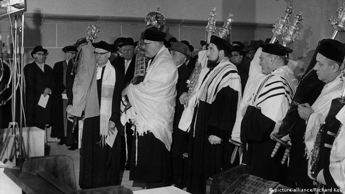 Освящение восстановленной синагоги в Вормсе в 1961 году