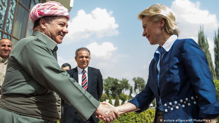 Ursula von der Leyen mit Massud Barzani 25.09.2014 Erbil