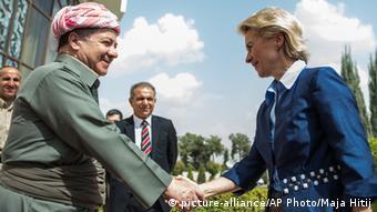 Ursula von der Leyen with Massoud Barzani 25.09.2014 Irbil