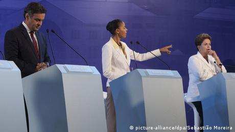 Brasilien Präsidentschaftswahlen 2014 Neves Silva Rousseff