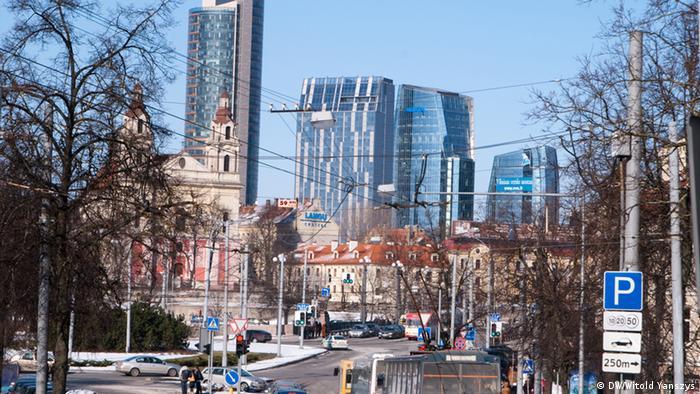 В центре Вильнюса появилось много новых многоэтажных зданий