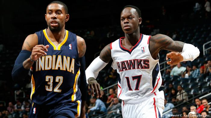 Dennis Schröder with the Atlanta Hawks (Kevin C. Cox/Getty Images)