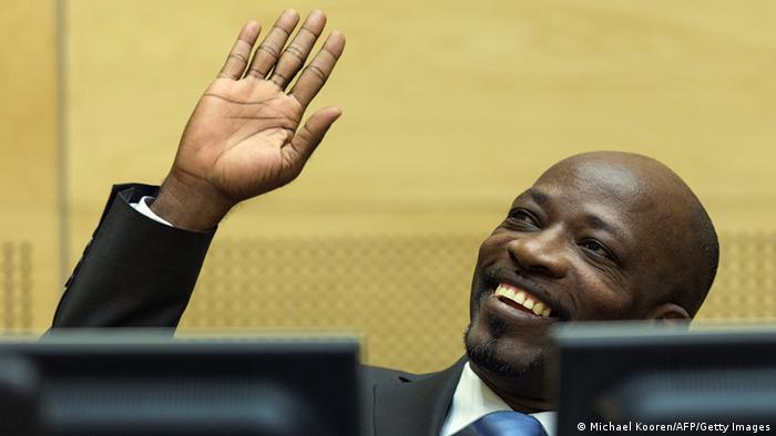 Im Januar hatte auch Gbagbos Mitstreiter Charles Blé Goudé noch gut lachen: Er wurde ebenfalls freigesprochen (Foto: Michael Kooren/AFP/Getty Images)