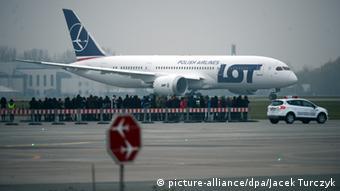Самолет польской авиакомпании LOT