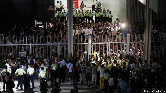 Hongkong Protest Demokratie Zusammenstöße 26.9.2014