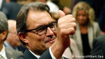 Глава правительства Каталонии Артур Мас