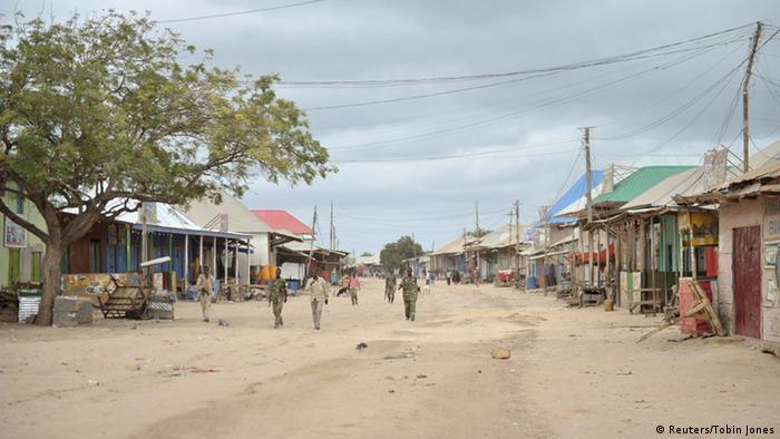 Somalia Straßenszene in Bulamareer 31.08.2014