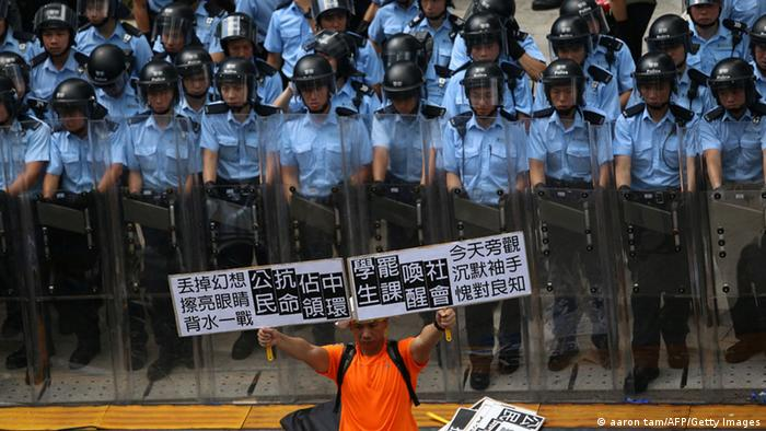 Studentenprotest in Hong Kong Occupy Central 27. Sept (aaron tam/AFP/Getty Images)