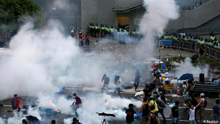 Studentenprotest in Hongkong Occupy Central 28. Sept