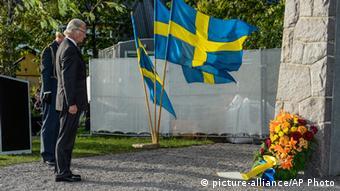 Gedenkveranstaltung in Stockholm Fähre Estonia 28.9.2014