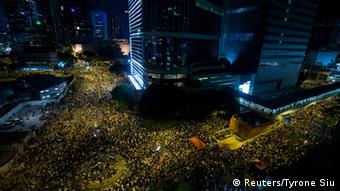 China Studentenprotest in Hongkong Occupy Central Regenschirme