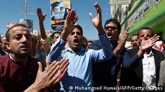 Anti-Huthi-Demonstration gegen in Sanaa, 28.09.2014 (Foto: AFP)