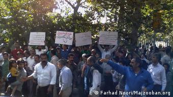 تجمع اعتراضی دراویش در برابر وزارت کشور علیه نقض حقوق خود