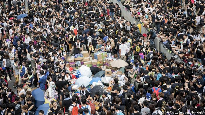 Demonstrationen Hongkong 29.09.2014