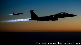 Syrien US Kampfjet Jet US Air Force F-15E IS Luftangriff