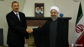 Ильхам Алиев и Хасан Роухани (сентябрь 2014 года)
