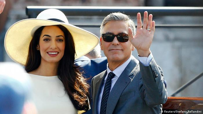 George Clooney and wife Amal in Venice