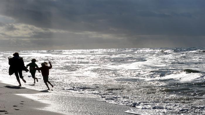 Kinder am Strand von Westerland