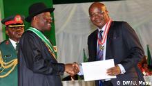 Fotos sind von unser Korrespondent aus Abuja, Nigeria, Ubale Musa, aufgenommen heute, den 29.09.2014, Auszeichnung einiger Nigerianer durch Präsident Goodluck Ebele Jonathan.