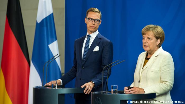 Berlin Bundeskalnzlerin Merkel und der finnische Ministerpräsident Stubb