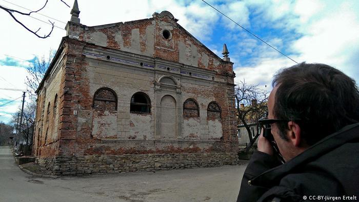 Кристіан Геррманн під час фотозйомок у Старому Самборі