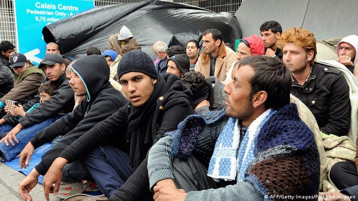 Flüchtlinge in Calais Archiv 2013