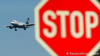 Lufthansa Streik Stoppschild