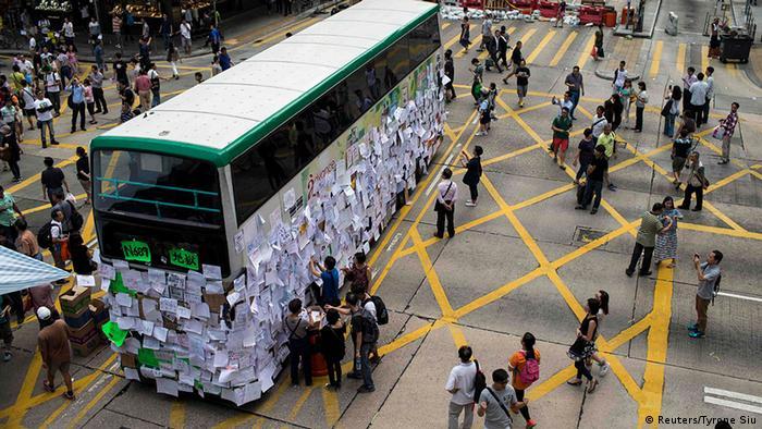 Hongkong Protest Demokratie Blockade Straßenblockade 30.9.