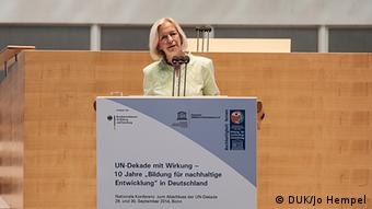 Konferenz zum Abschluss der UN-Dekade Bildung für nachhaltige Entwicklung Johanna Wanka