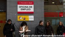 Arbeitsamt in Madrid Archiv Januar 2014