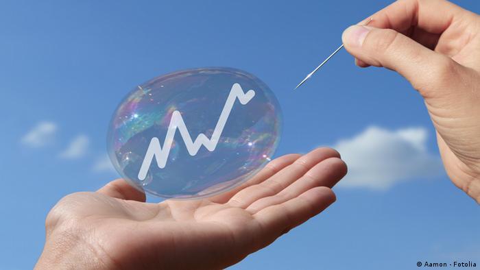 Symbolbild Seifenblase Börse