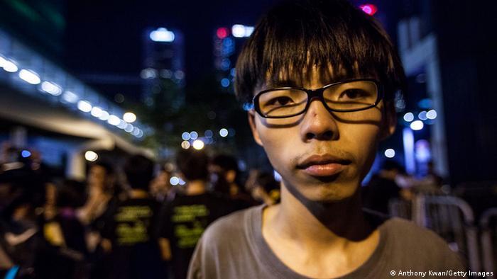 Joshua Wong Proteste in Hongkong