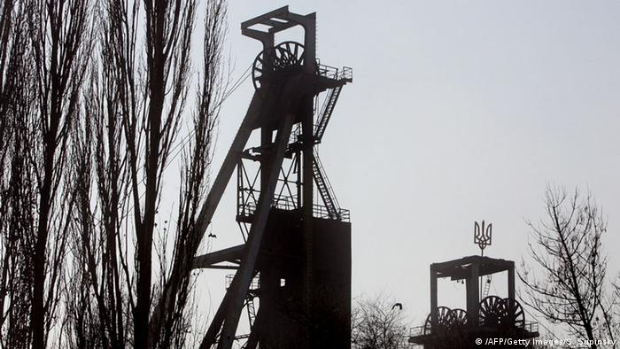 Kohlmine in Donezk, Ukraine