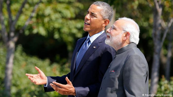 Indischer Premier Modi mit US-Präsident Obama in Washington 30.09.2014