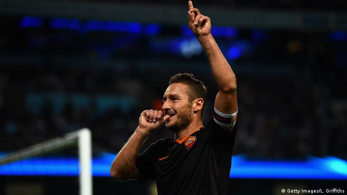 UEFA Champions League Manchester City FC AS Roma Francesco Totti