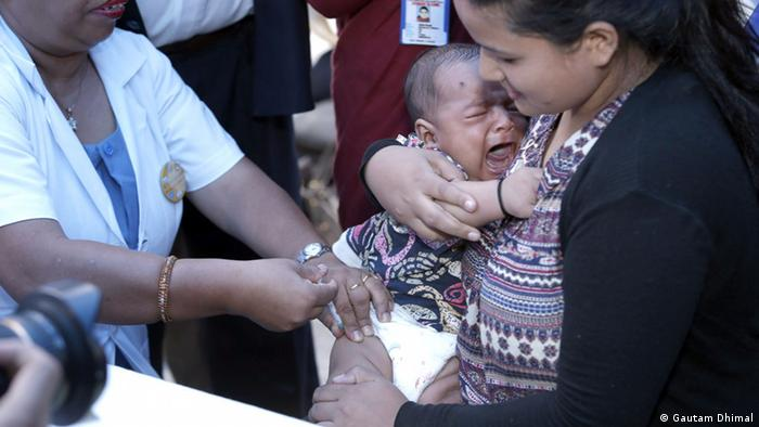 Impfung gegen Polio in Nepal Foto: Gautam Dhimal