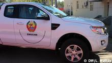 Eines der Fahrzeuge geliefert für die EMOCHM Team (International Observer Military Team for the Cessation of Military Hostilities) in Mosambik.