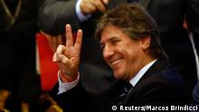 Argentina's Vice President Amado Boudou gestures during a ceremony at the Casa Rosada Presidential Palace in Buenos Aires, September 30, 2014. Argentina deposited a $161 million bond interest payment with a newly appointed local trustee on Tuesday, the Economy Ministry said, defying a U.S. judge who held it in contempt a day earlier for taking illegal steps to meet its debt obligations. REUTERS/Marcos Brindicci (ARGENTINA - Tags: POLITICS BUSINESS)
