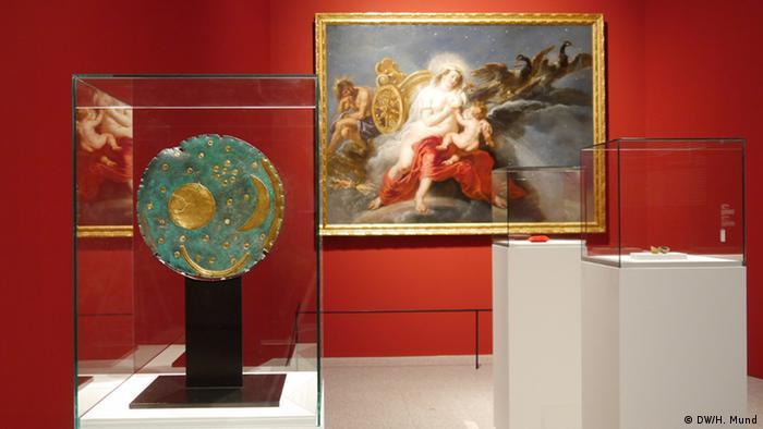 Peter Paul Rubens Gemälde Die Geburt der Milchstraße auf der Ausstellung Outer Space in der Bundeskunsthalle Bonn (c) DW/H. Mund