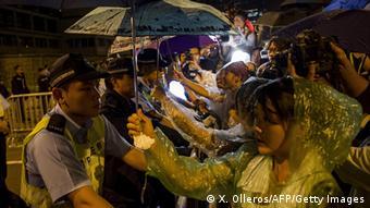 China Hongkong Demonstration der Demokratiebewegung Regenschirm