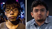 Kombobild Joshua Wong und Wael Ghonim