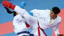 Asian Games Karate Iran: Hamideh Abbas Ali *** Quelle: Isna Lizenz: Frei